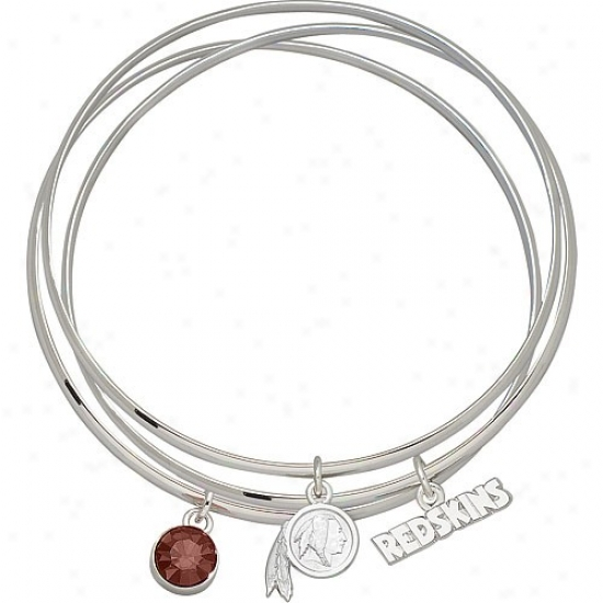 Washington Redskins Bangle Bracelet Set