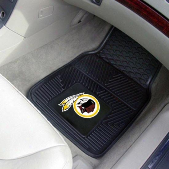 Washington Redskins Black 2-piece Vinyl Car Mat Set