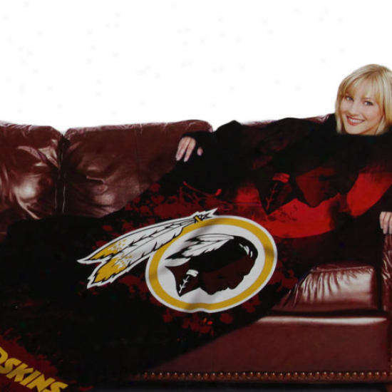 Washington Redskins Black Team Logo Print Unisex Comfy Throw