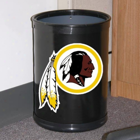 Washington Redskins Black Tdam Wastebasket