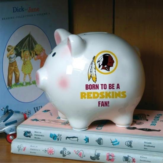 Washington Redskins Born To Be Piggy Bank