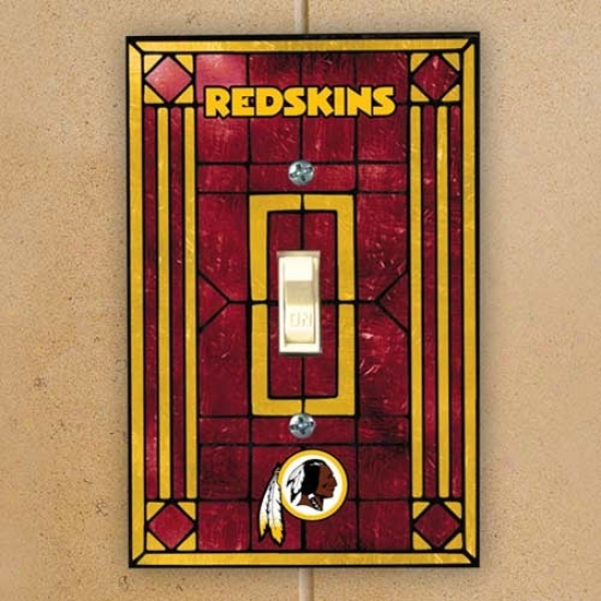 Washington Redskins Burgundy Art-glass Switch Plate Cover