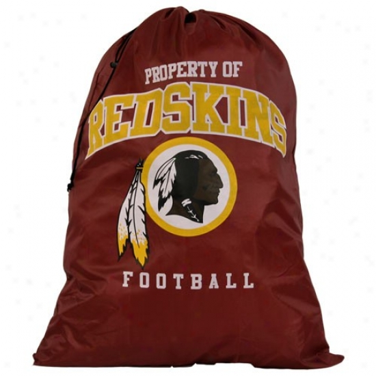 Washington Redskins Burgundy Drawstring Laundry Bag