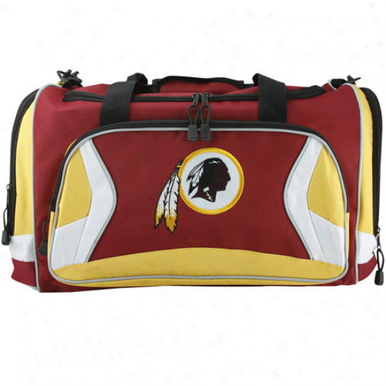Washington Redskins Burgundy Fly-by Duffel Bag