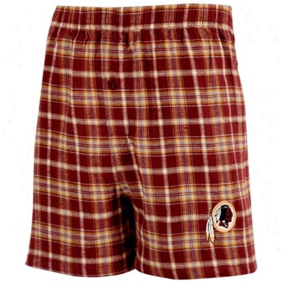 Washington Redskins Burgundy Fly Pattern Boxer Shorts