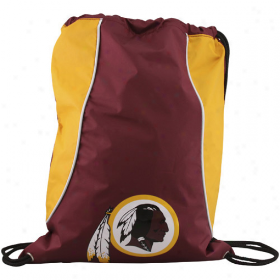 Washington Redskins Burgundy-gold Axis Drawstring Backpack