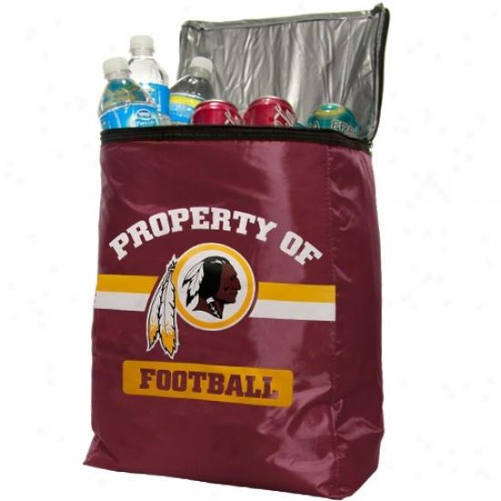 Washington Redskins Burgundy Insulated Cooler Backpack