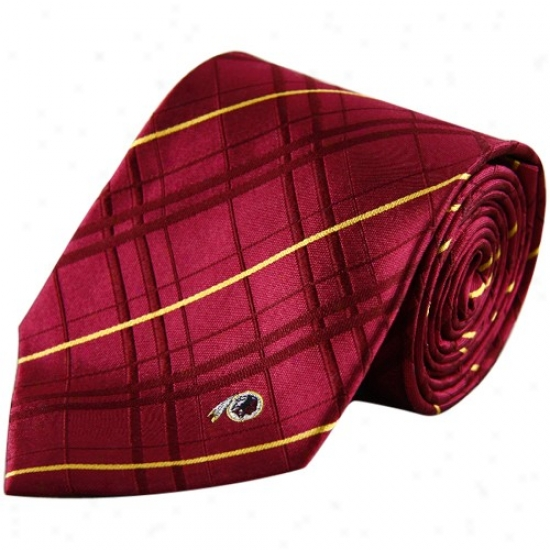Washington Redskins Burgundy Oxford Woven Tie