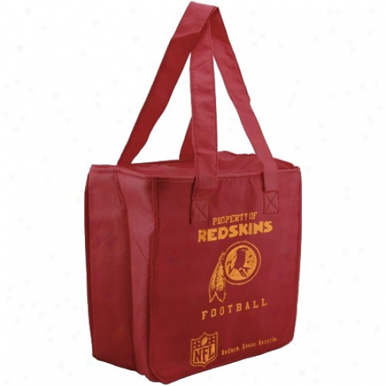 Washington Redskins Burgundy Reusable Insulated Tote Bag