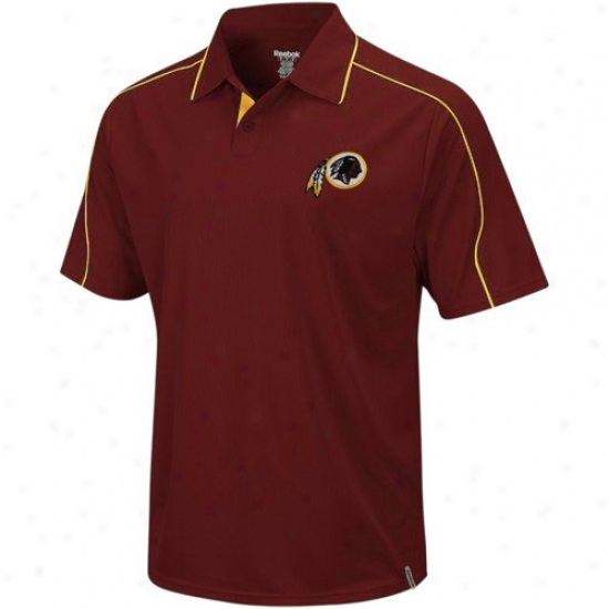 Washington Redskins Clothing: Reebok Washington Redskins Burgundy Active Polo