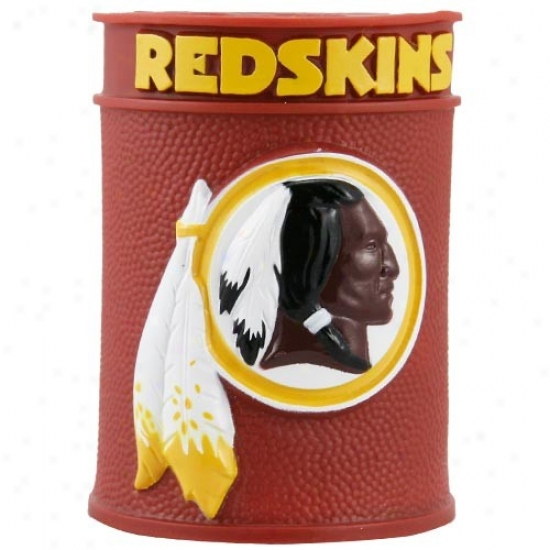 Washington Redskins Embossed Plastic Can Coozie
