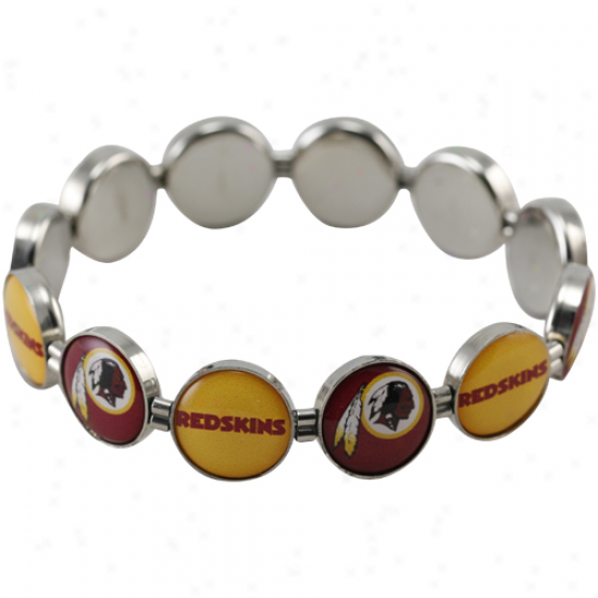 Washington Redskins Enamel Charm Beaded Bracelet