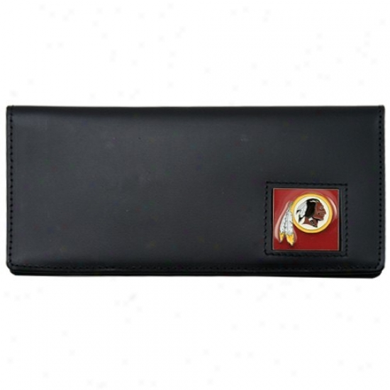 Washington Redskins Executive Black Leather Checkbook Cover