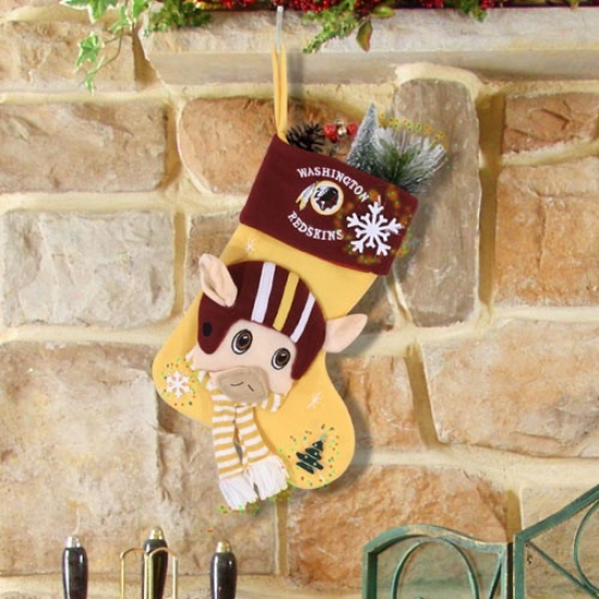Washington Rddskins Fiber Optic Mascot Stocking
