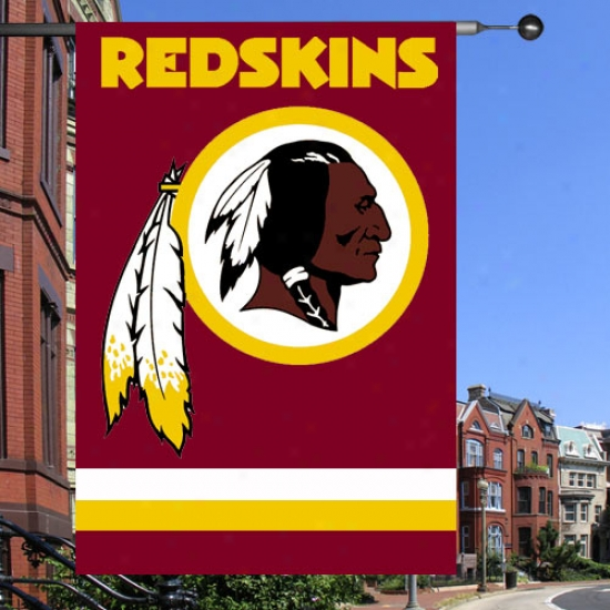 Washington Redskins Flag : Washington Redskins Burgundy Applique Flag Flag