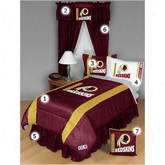 Washington Redskins Full Size Sideline Bedroom Set
