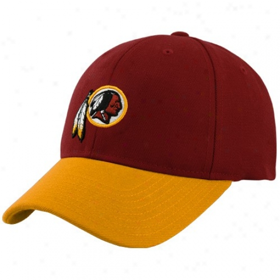 Washington Redskins Gear: Reebok Washington Rdskins oYuth Burgundy Two-tone Adjustable Hat