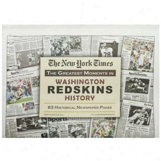 Washington Redskins Greatest Moments Newspaper