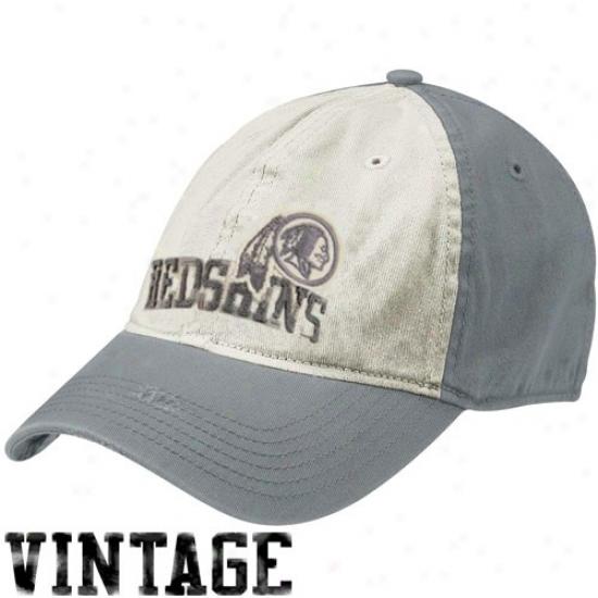 Washington Redskins Hat : Reebok Washington Redskins Natural-gray Random Vintage Flex Flt Hat
