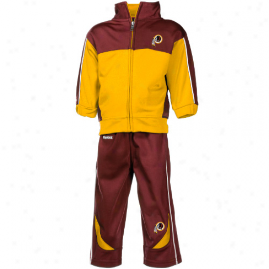 Washington Redskins Hoody : Reebok Washington Redskins Infant Gold-burgundy Complete Zip Jacket & Pants Set