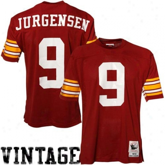 Washington Redskins Jersey : Mitchell & Ness Sonny Jurgensen Washjngton Redskins Authentic Throwback Jersey - Burgundy