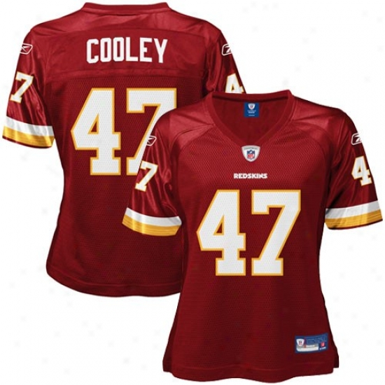 Washigton Redskins Jersey : Reebok Chris Cooley Washington Redskins Ladies Replica Jersey - Burgundy