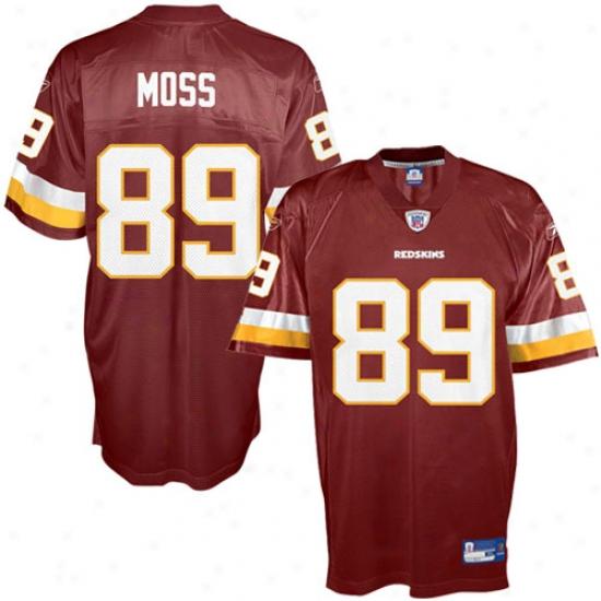 Washington Redskins Jersey : Reebok Nfl Equipment Washington Rerskins #89 Santana Moss Burgundy Replica Football Jersey
