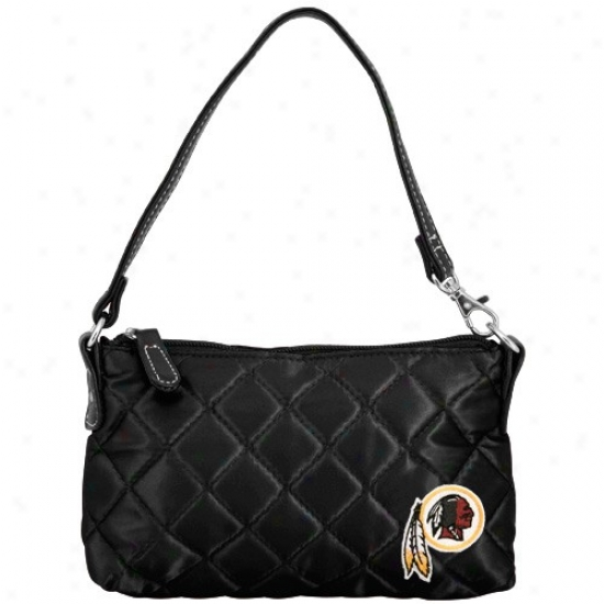 Washington Redskins Ladies Mourning Wristlet Quilted Purse