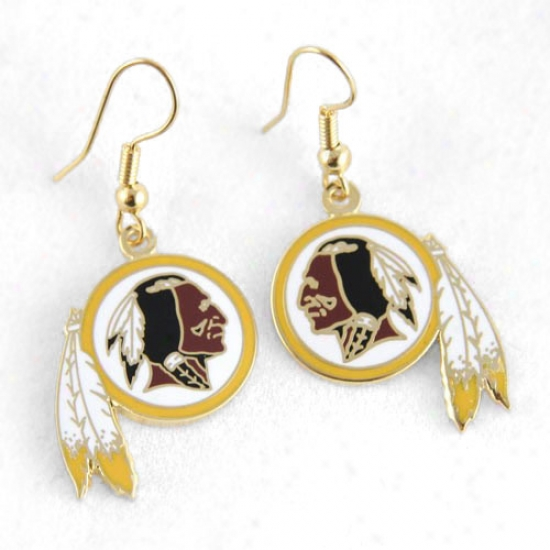 Washington Redskins Logo Wire Earrings