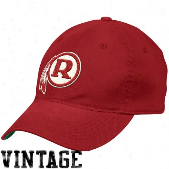 Washington Redskins Merchandise: Reebok Washington Redskins Burgundy Distressed Slouch Flex Fit Hat