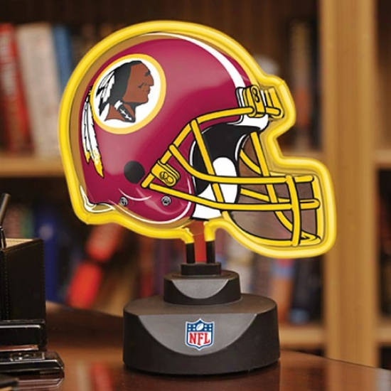 Washington Redskins Neon Helmet Light