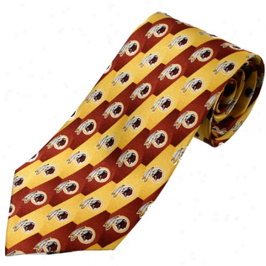 Washington Redskine Pattern 1 Silk Tie