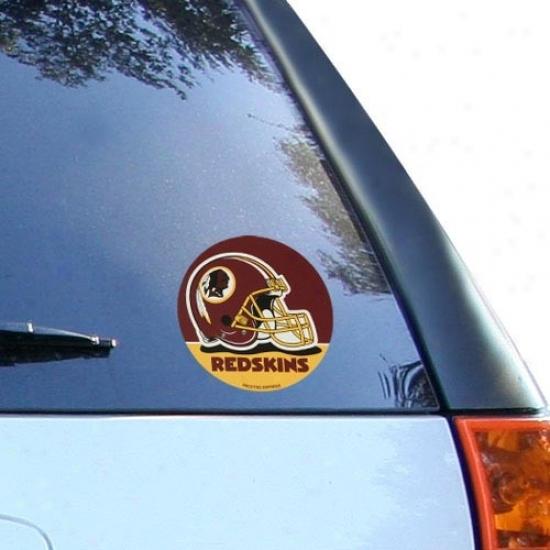 Washington Redskins Round Vinyl Decal