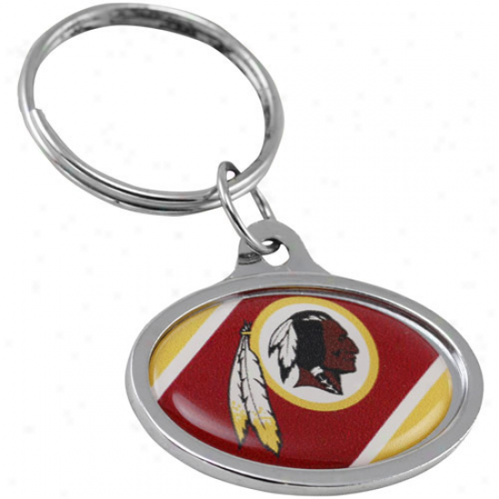 Washington Redskins Mean Oval Keychain
