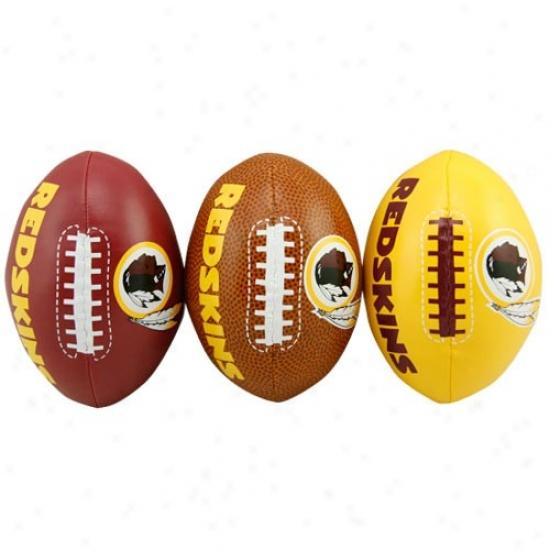 Wsshington Redskins Softee 3 Football Set