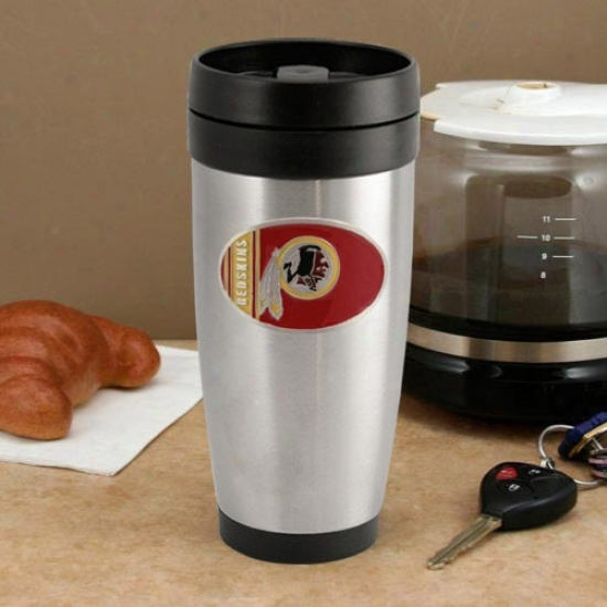 Washington Redwkins Stainless Steel Team Logo Travel Tumbler