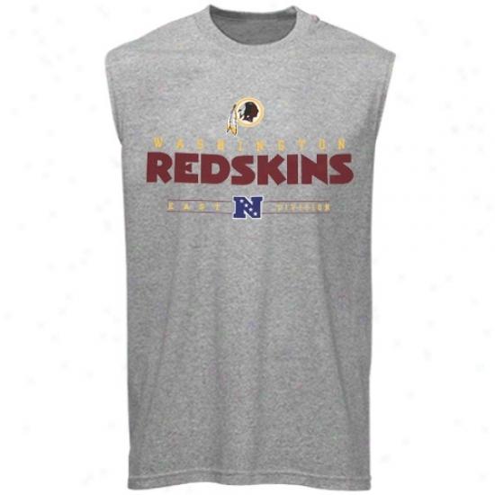 Washington Redskins T Shirt : Washington Redskins Steel Gray Critical Victory Sleeveless T Shirt
