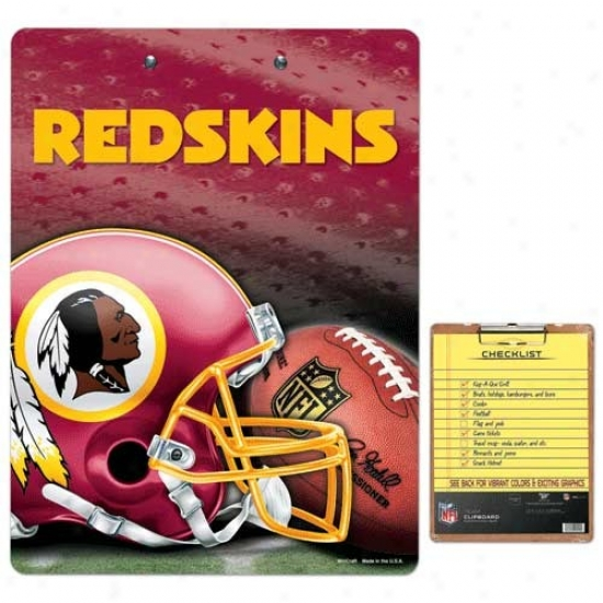 Washington Redskins Team Logo Clipboard