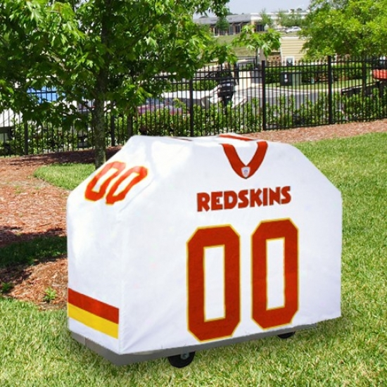 Washington Redskins White Jersey Bbq Grill Cover