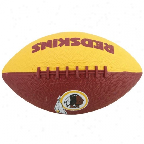 Washington Redskins Youth Gold-burgundy Hail Mary Rubber Football