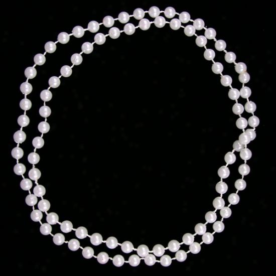 White Gameday Beads