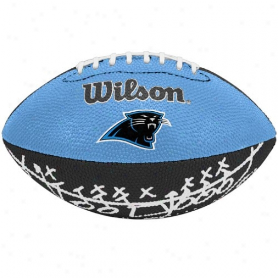 Wilson Carolina Panthers Rubber Mini Football