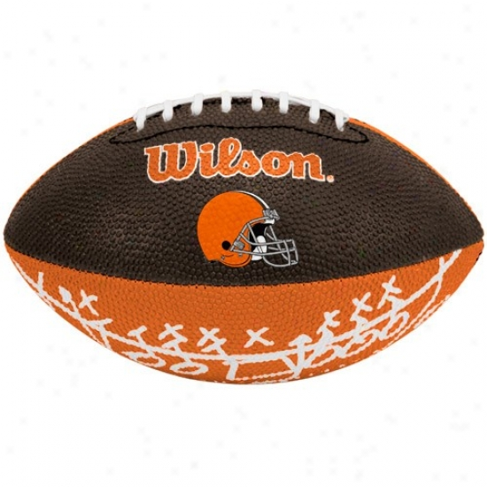 Wilson Cleveland Browns Rubber Mini Football