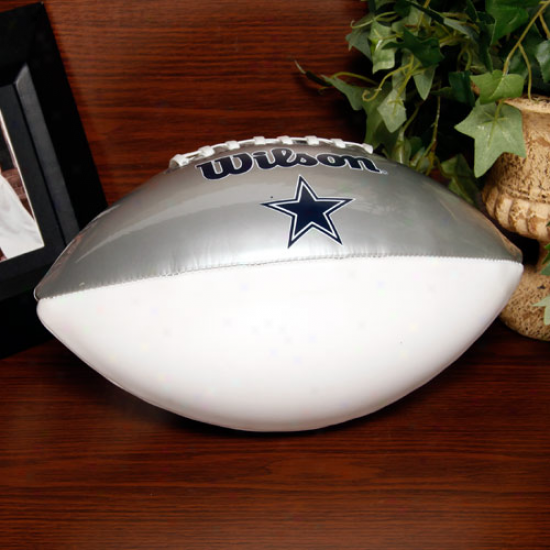 Wilson Dallas Cowboys Silver-white Full-size Autograph Football