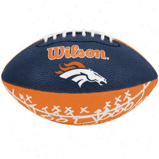 Wilson Denver Broncos Rubber Mini Football