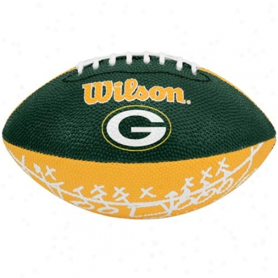 Wilson Green Bay Packers Rubber Mini Football