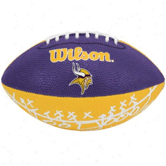 Wilson Minnesota Vikings Rubber Mini Football
