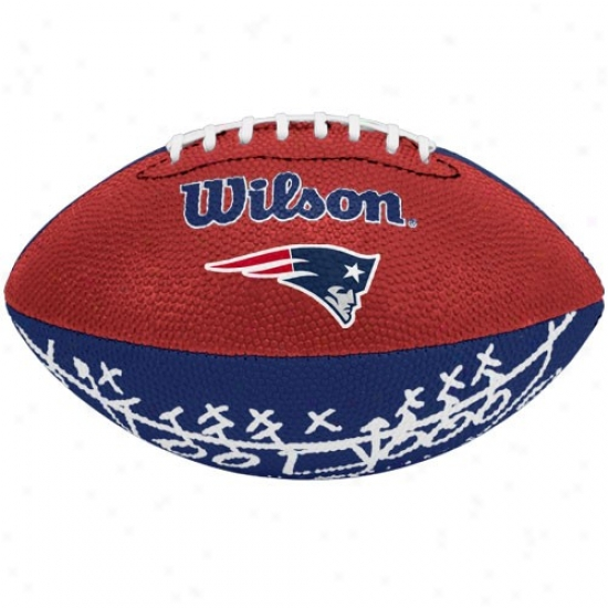 Wilson New England Patriots Rubber Mini Football