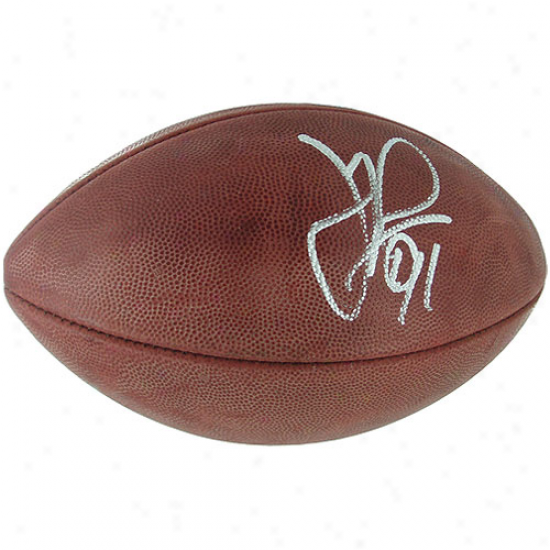 Wilson New York Giants Justin Tuck Autographed Nfl Authentic ''the Duke'' Game Ball