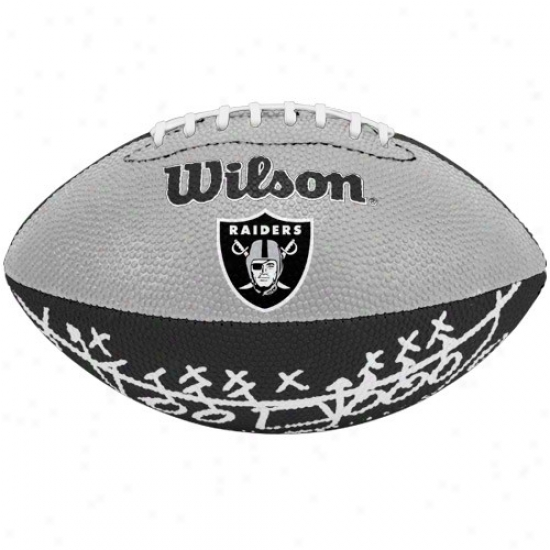 Wilson Oakland Raiders Rubber Mini Football